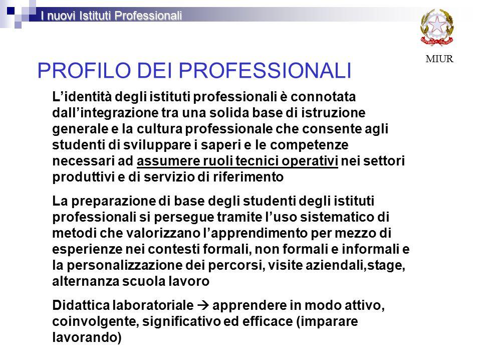 PROFILO DEI PROFESSIONALI