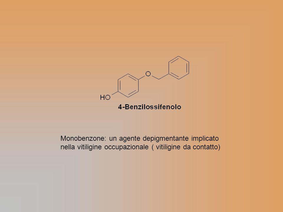 Monobenzone: un agente depigmentante implicato