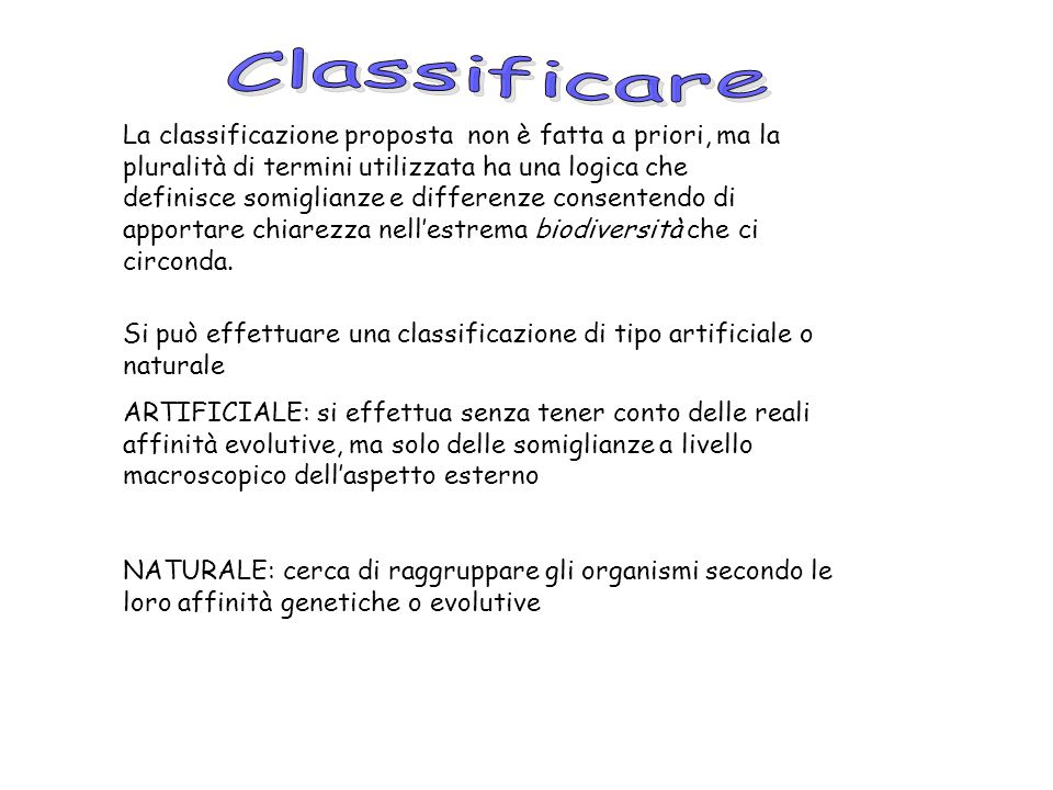 Classificare