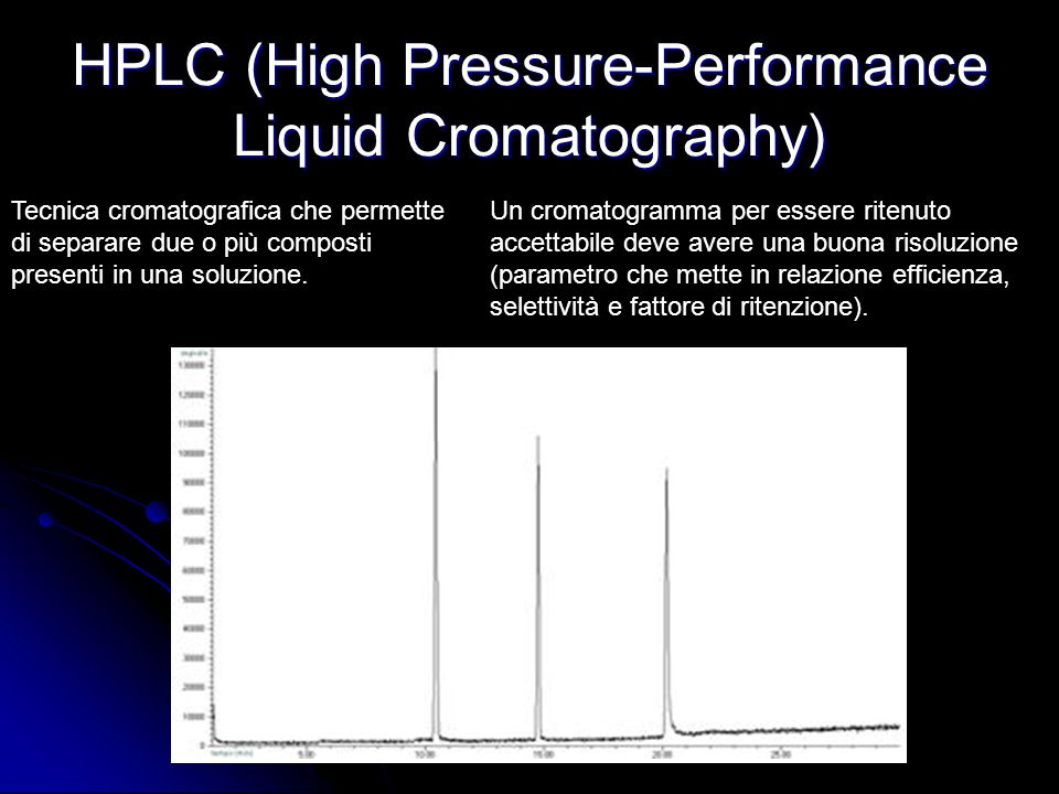 HPLC (High Pressure-Performance Liquid Cromatography)