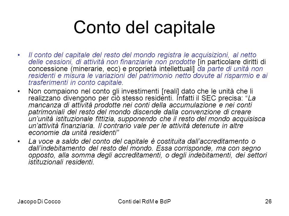 Conto del capitale