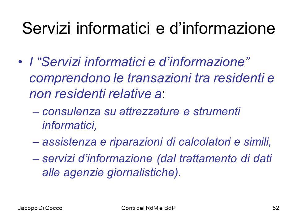Servizi informatici e d'informazione