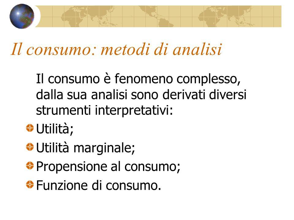 Il consumo: metodi di analisi