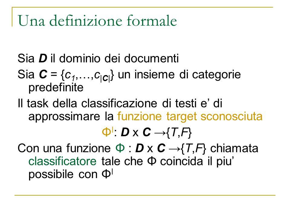 Una definizione formale