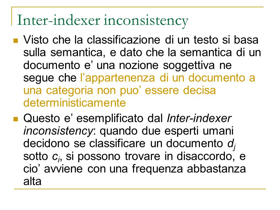 Inter-indexer inconsistency