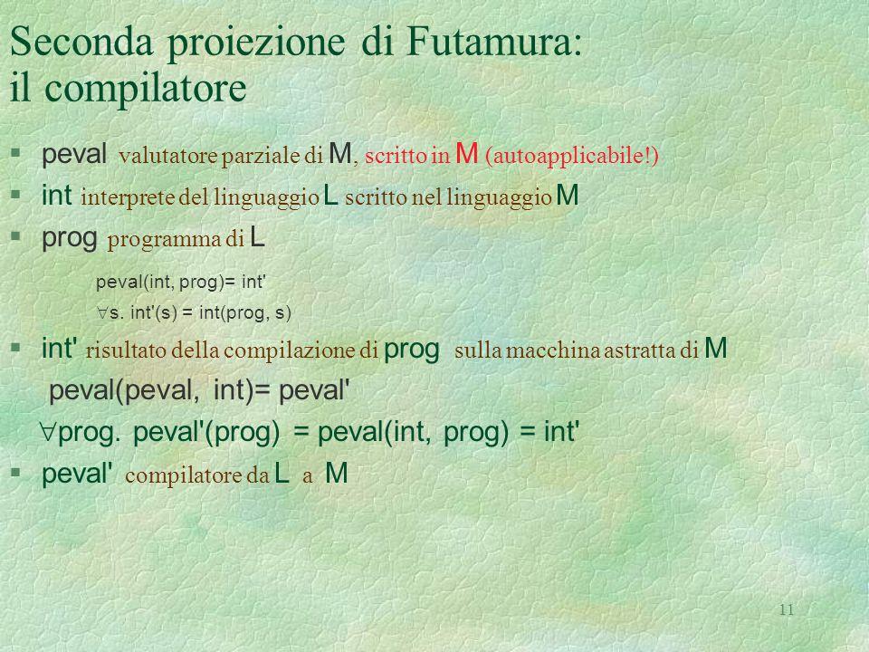 Seconda proiezione di Futamura: il compilatore