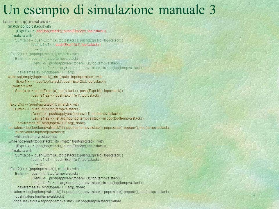 Un esempio di simulazione manuale 3