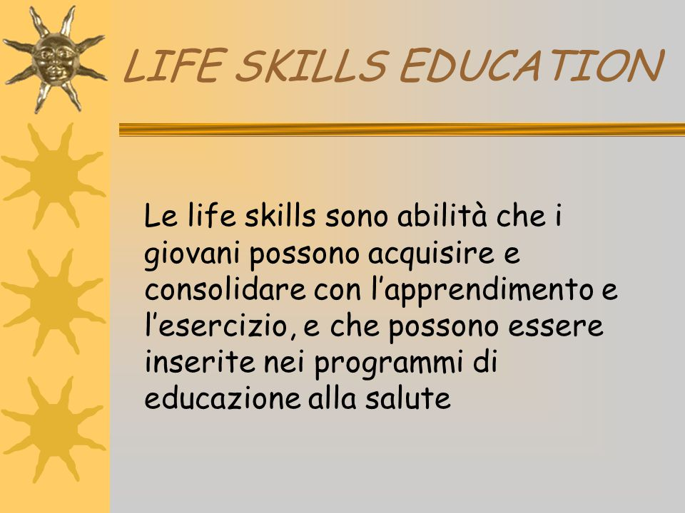 LIFE SKILLS EDUCATION