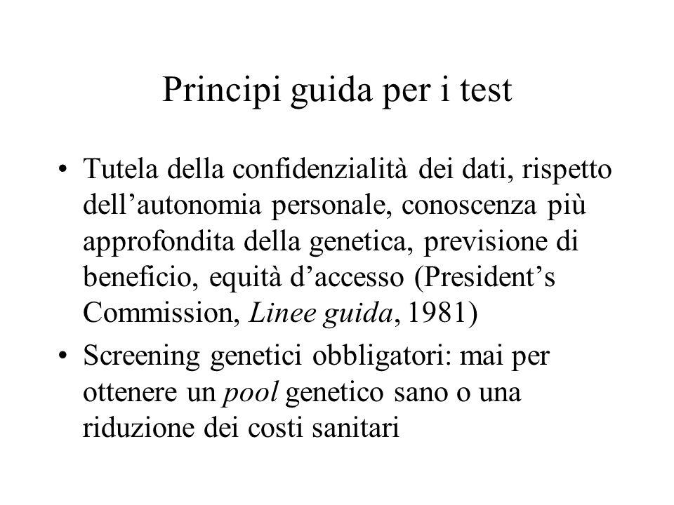 Principi guida per i test