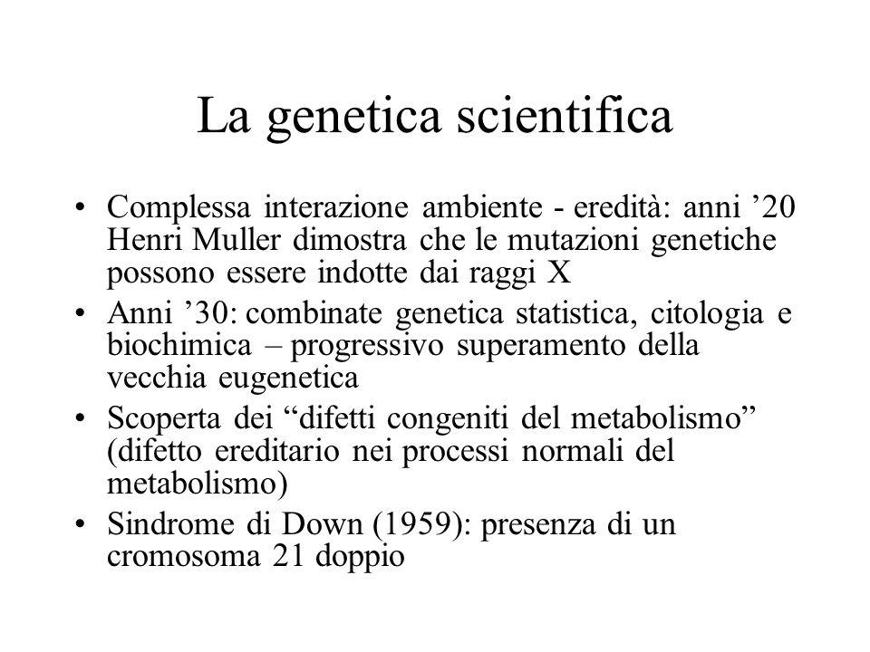 La genetica scientifica