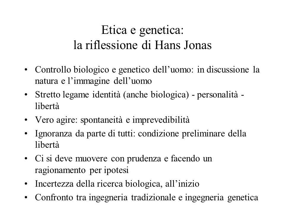 Etica e genetica: la riflessione di Hans Jonas