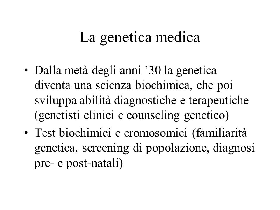 La genetica medica