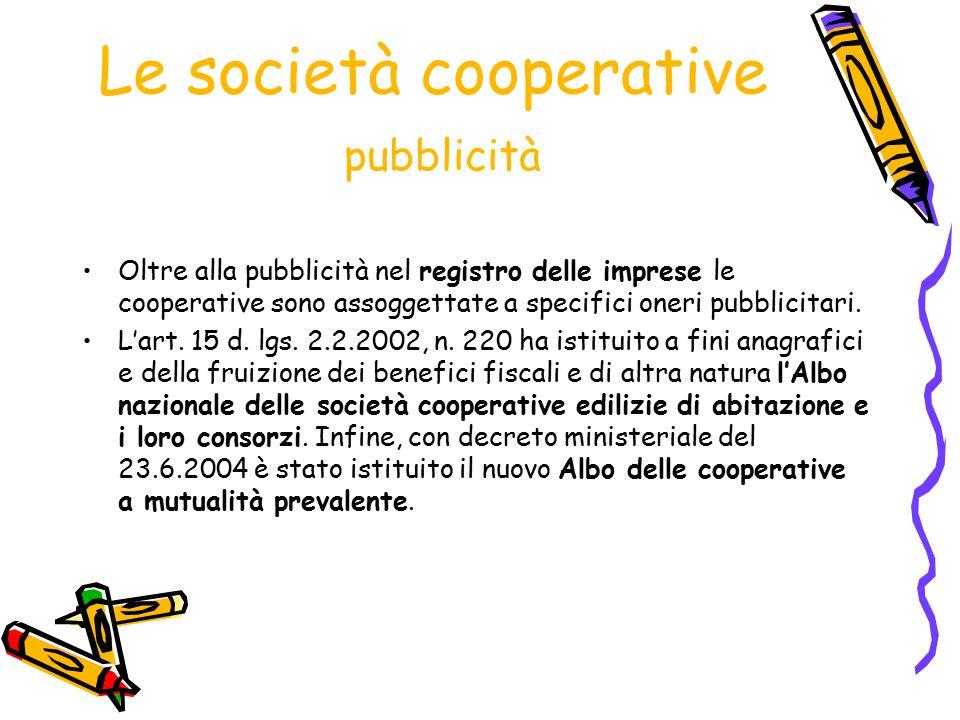 Le società cooperative pubblicità
