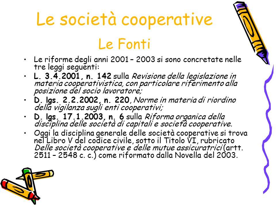 Le società cooperative Le Fonti