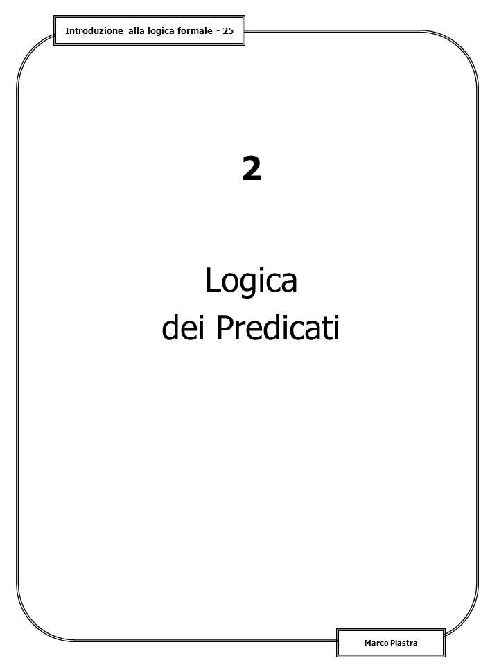 2 Logica dei Predicati