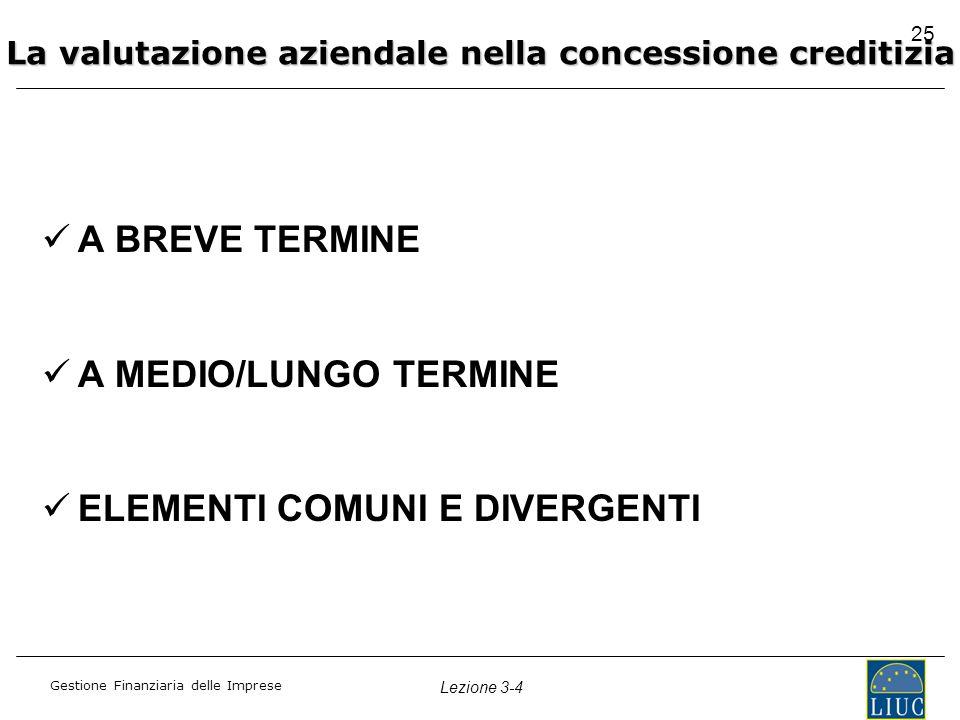 La valutazione aziendale nella concessione creditizia