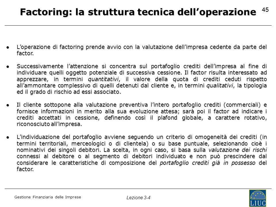 Factoring: la struttura tecnica dell'operazione