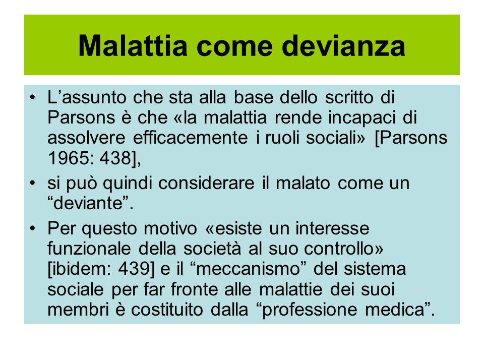 Malattia come devianza