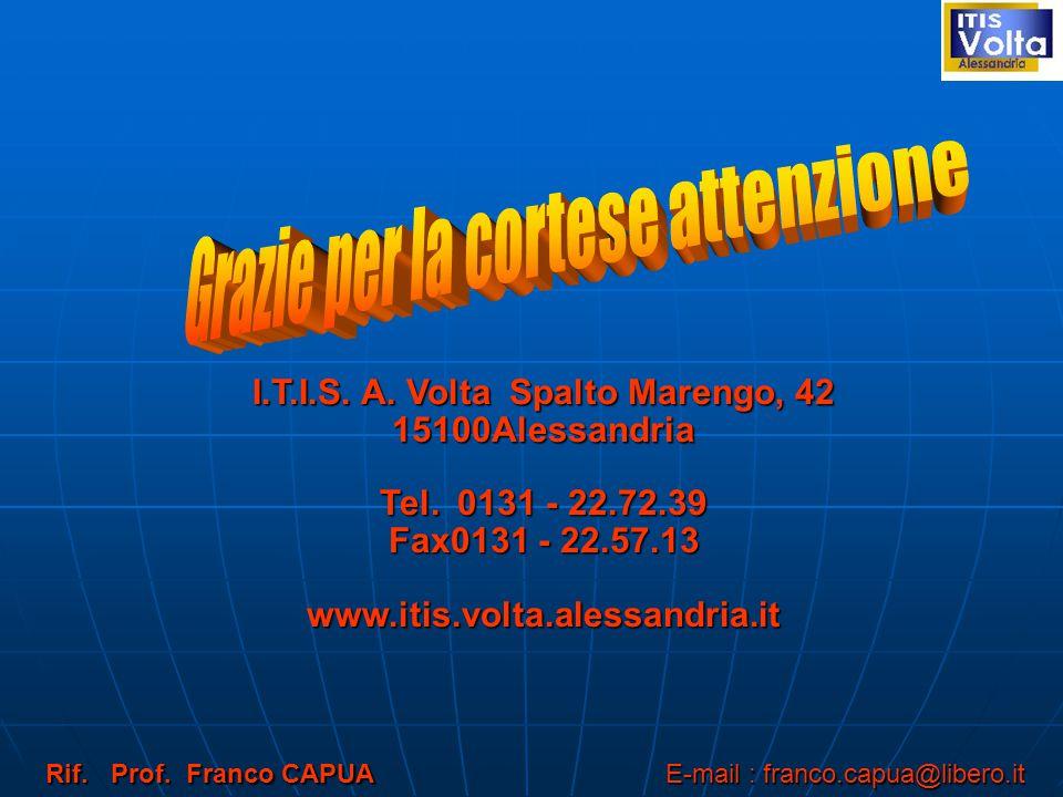 I.T.I.S. A. Volta Spalto Marengo, 42 15100Alessandria