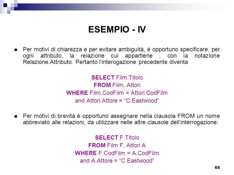 ESEMPIO - IV