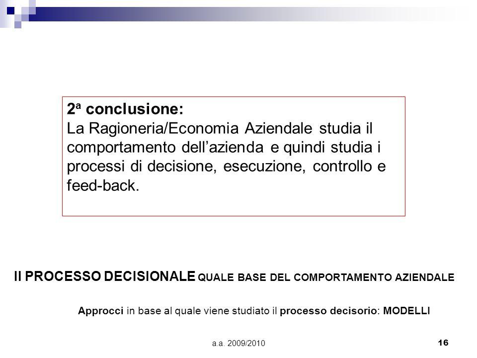 2a conclusione: