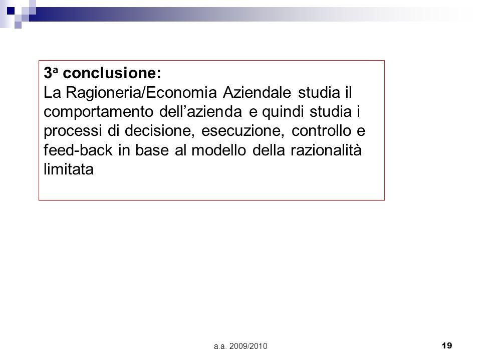 3a conclusione: