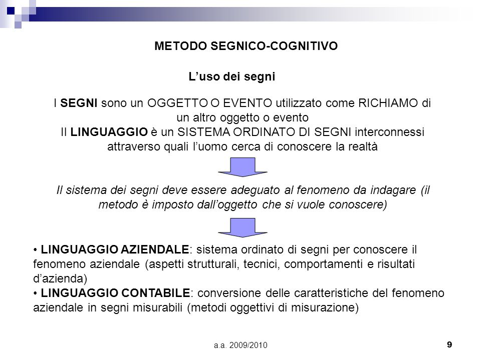 METODO SEGNICO-COGNITIVO