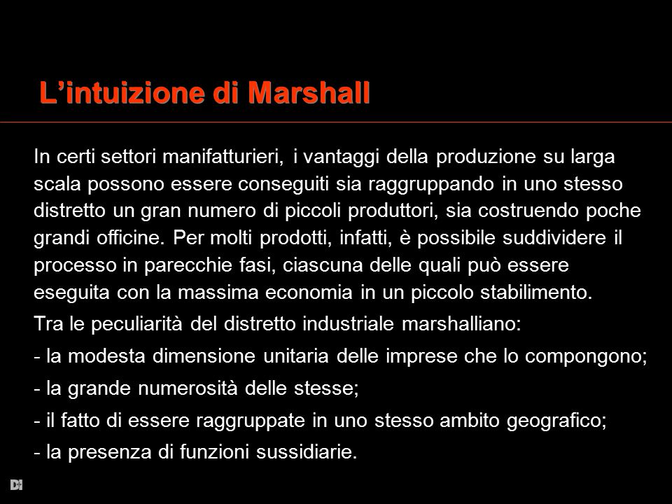 L'intuizione di Marshall