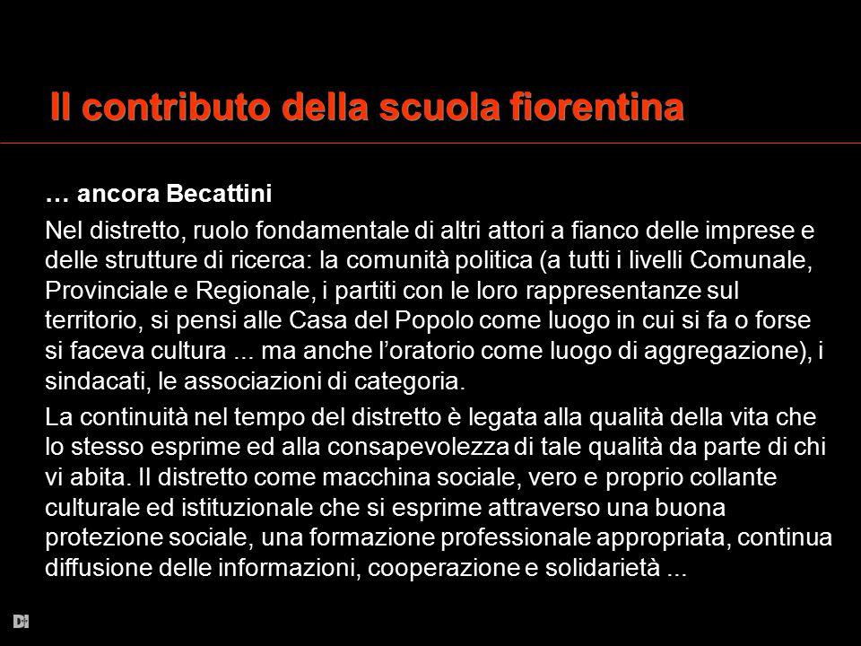 Il contributo della scuola fiorentina
