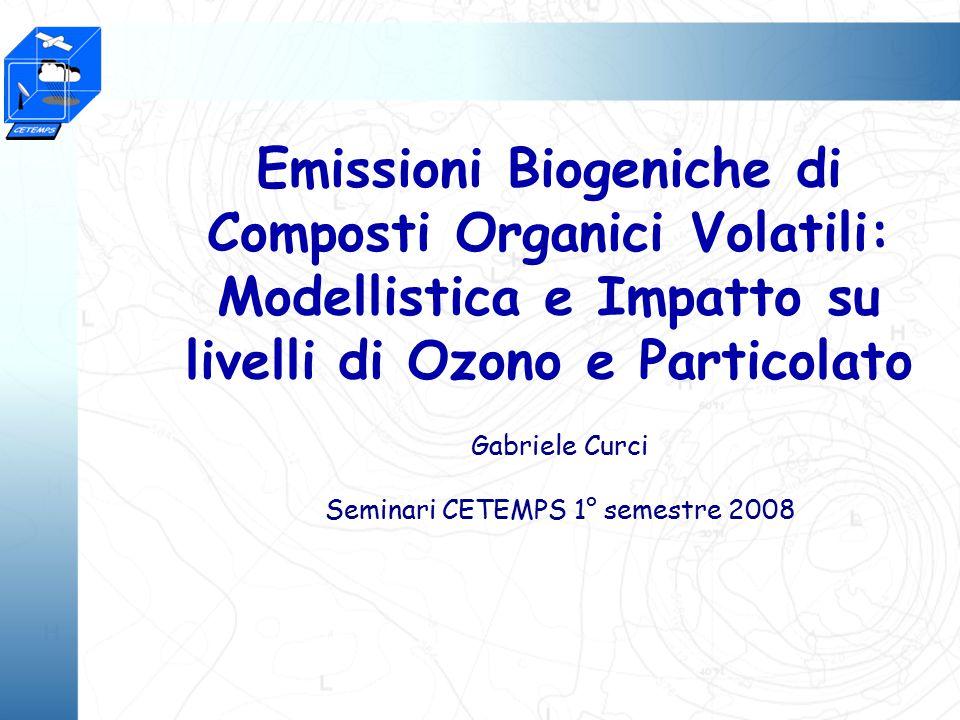 Gabriele Curci Seminari CETEMPS 1° semestre 2008