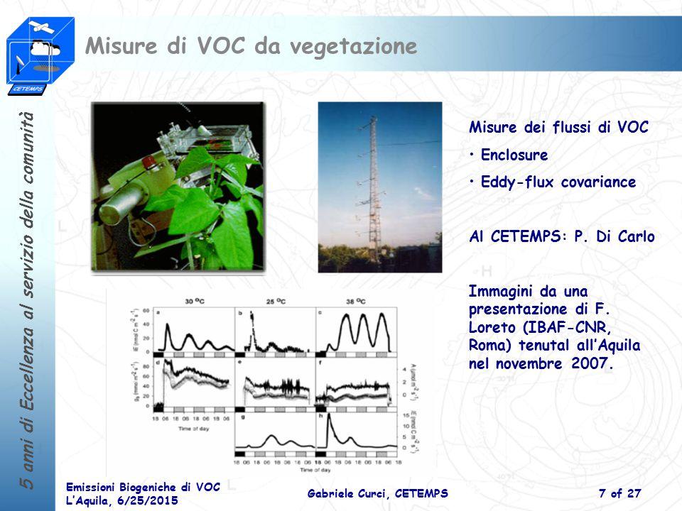 Misure di VOC da vegetazione