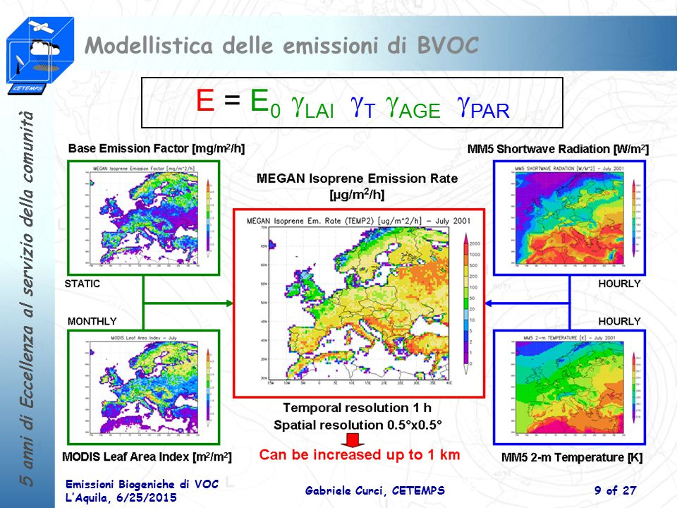 Modellistica delle emissioni di BVOC