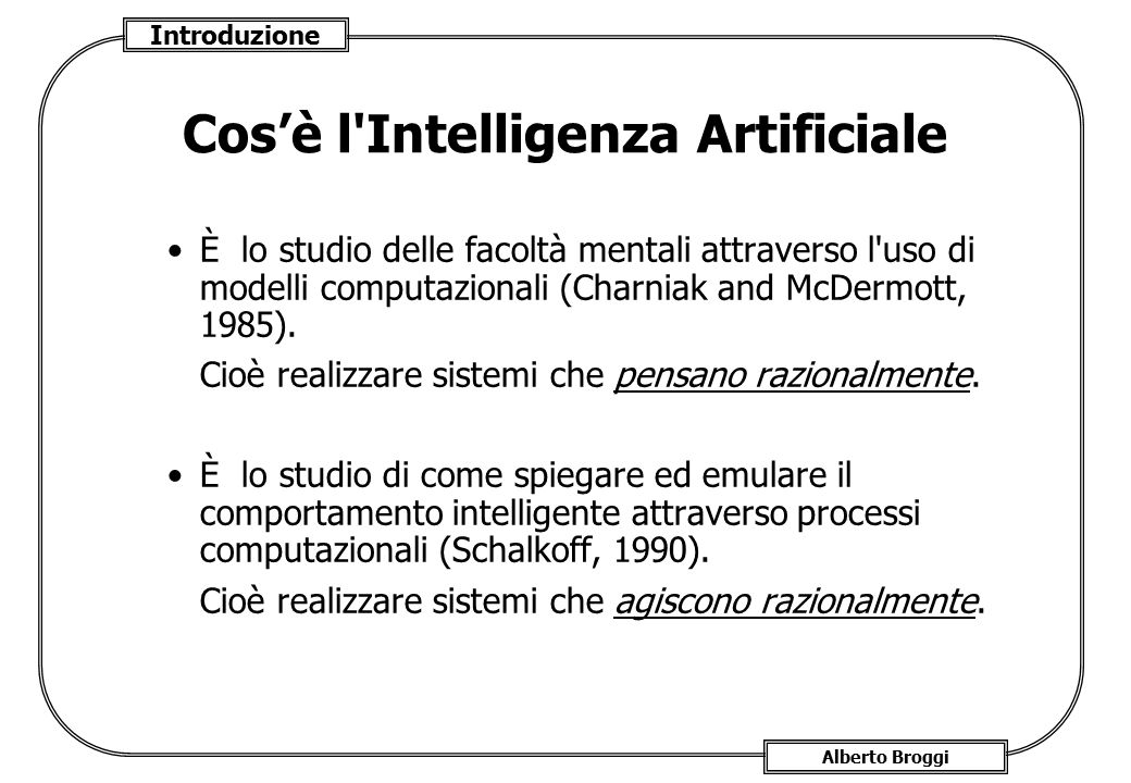 Cos'è l Intelligenza Artificiale