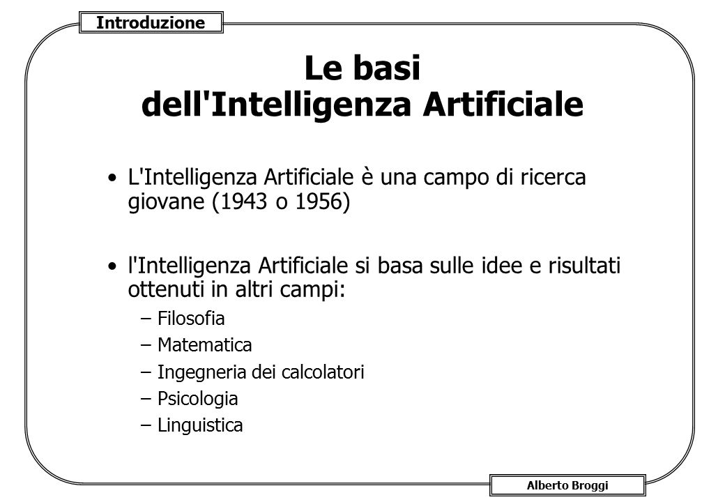 Le basi dell Intelligenza Artificiale