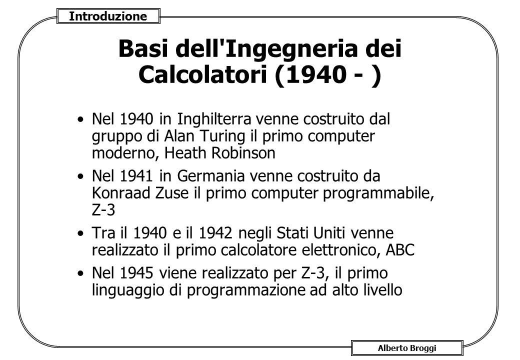 Basi dell Ingegneria dei Calcolatori (1940 - )