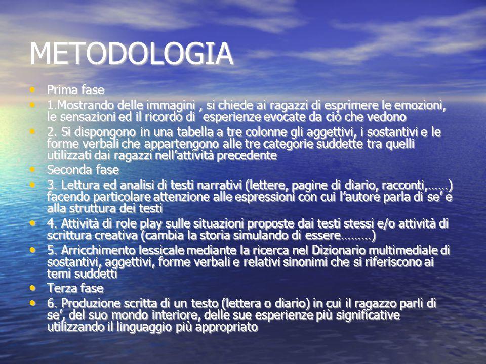 METODOLOGIA Prima fase