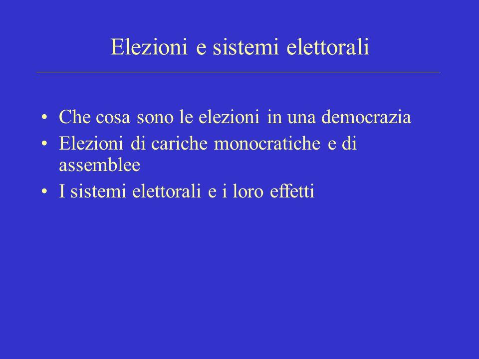 Elezioni e sistemi elettorali