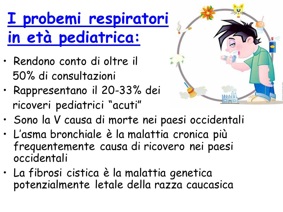 I probemi respiratori in età pediatrica: