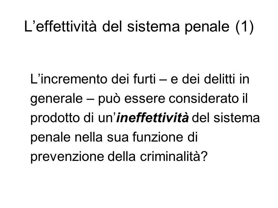 L'effettività del sistema penale (1)