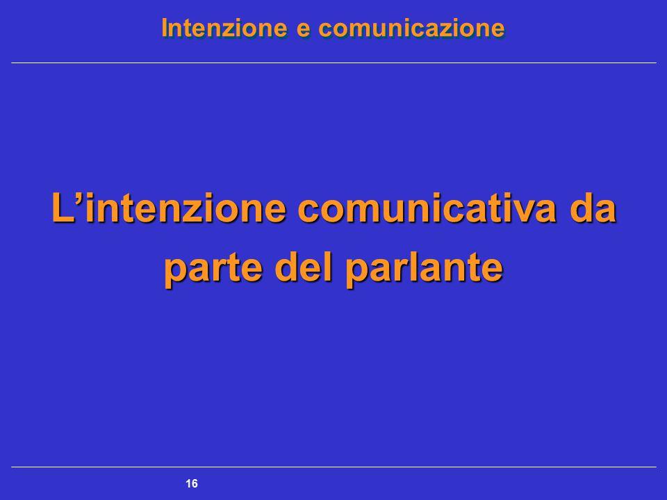 L'intenzione comunicativa da