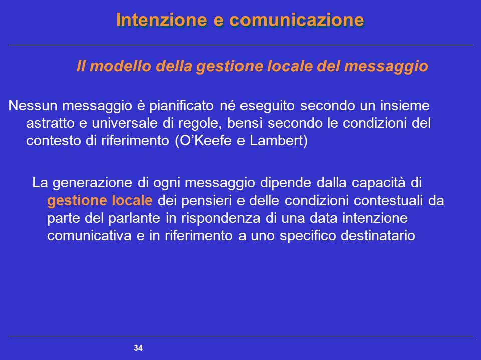 Il modello della gestione locale del messaggio