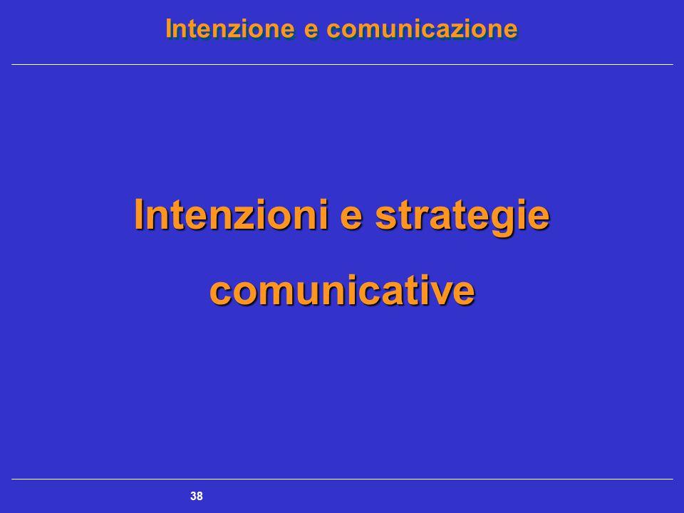 Intenzioni e strategie