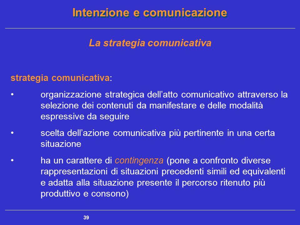 La strategia comunicativa