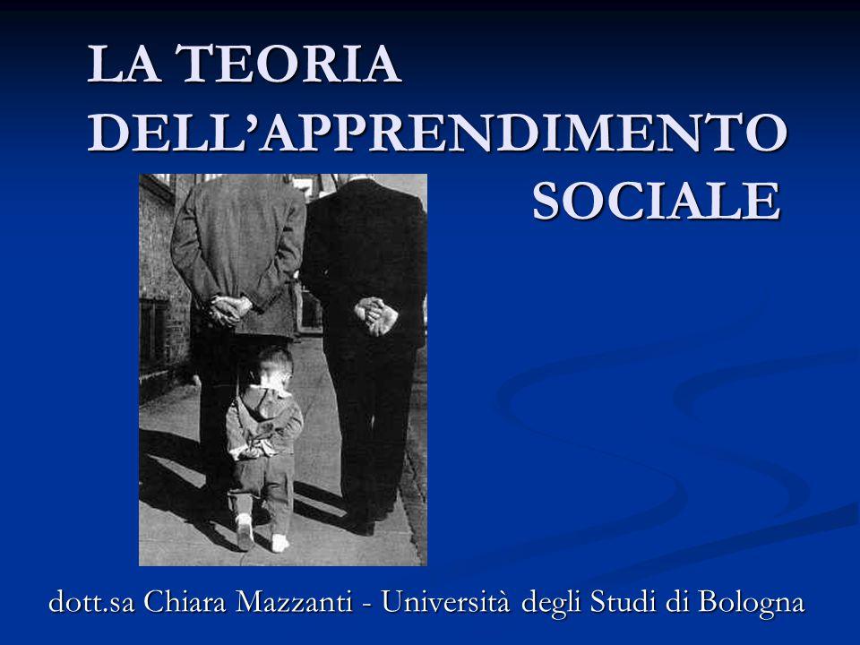 LA TEORIA DELL'APPRENDIMENTO SOCIALE