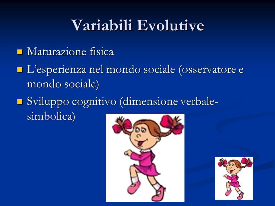 Variabili Evolutive Maturazione fisica