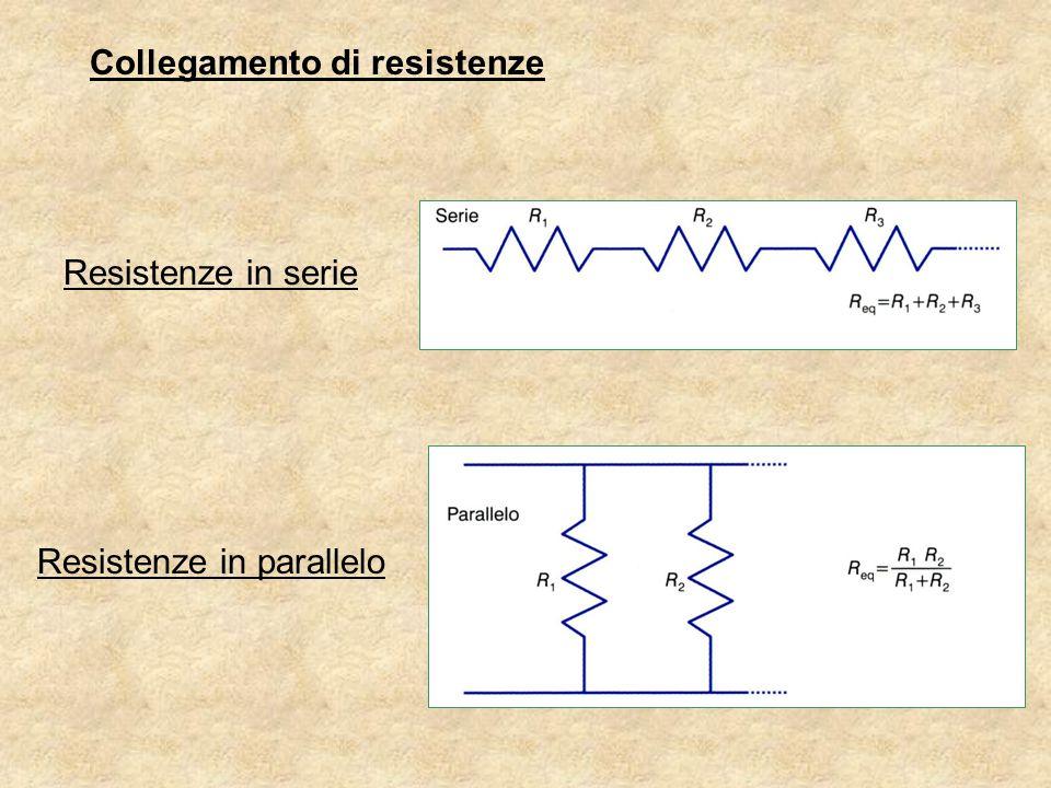 Collegamento di resistenze