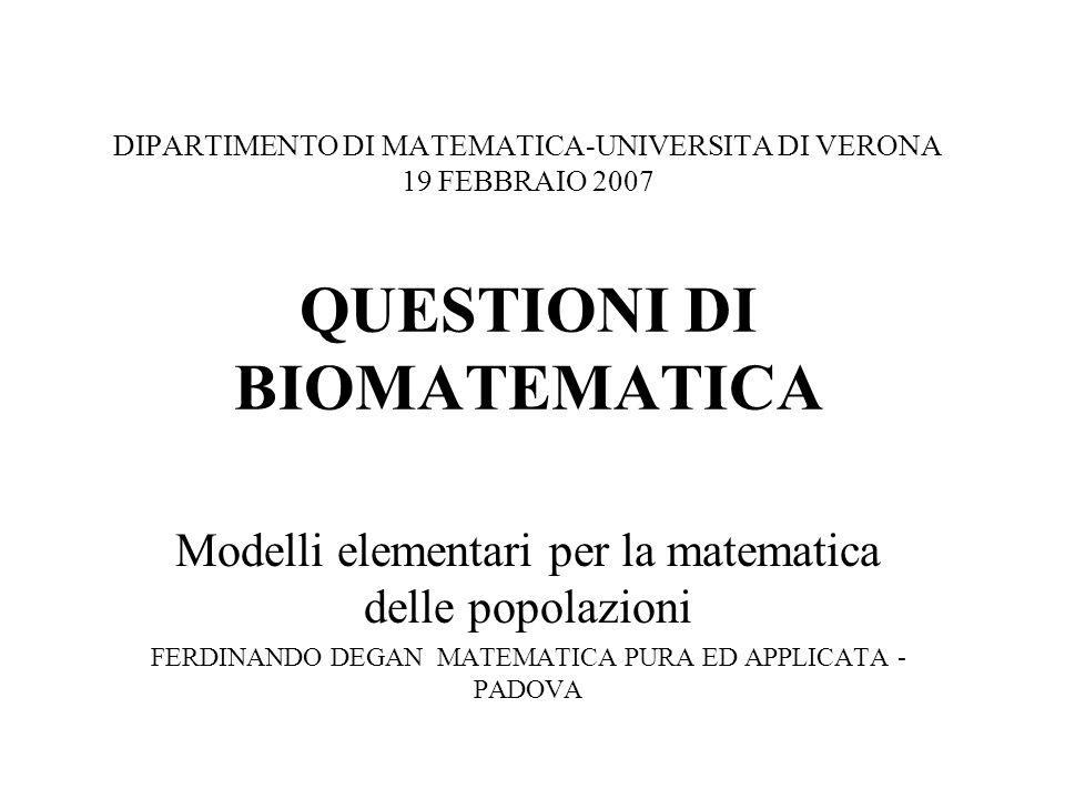 Modelli elementari per la matematica delle popolazioni