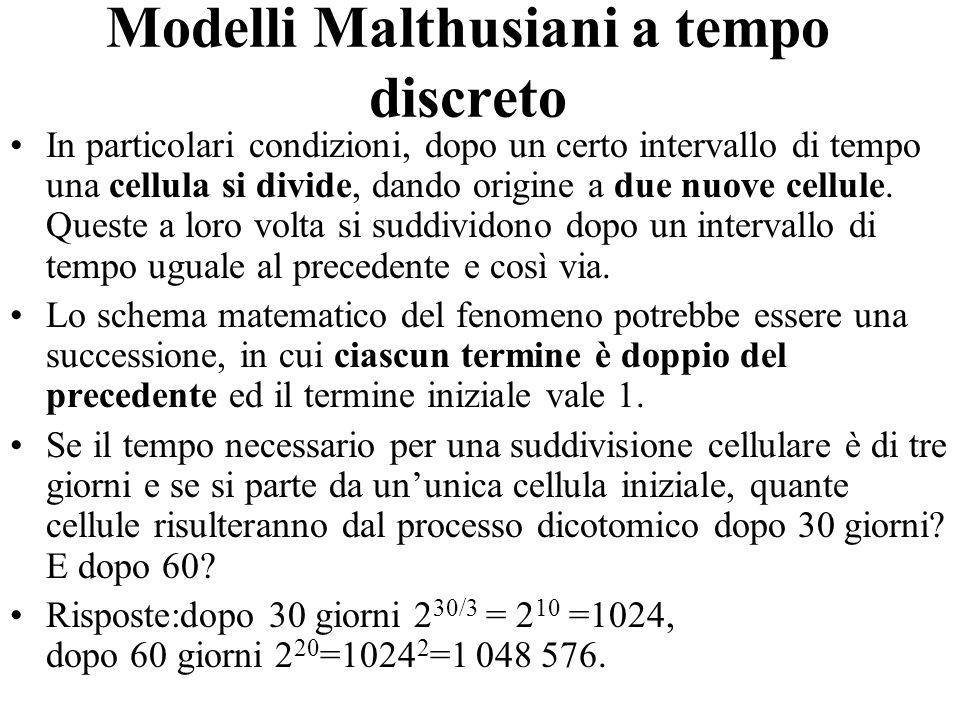 Modelli Malthusiani a tempo discreto
