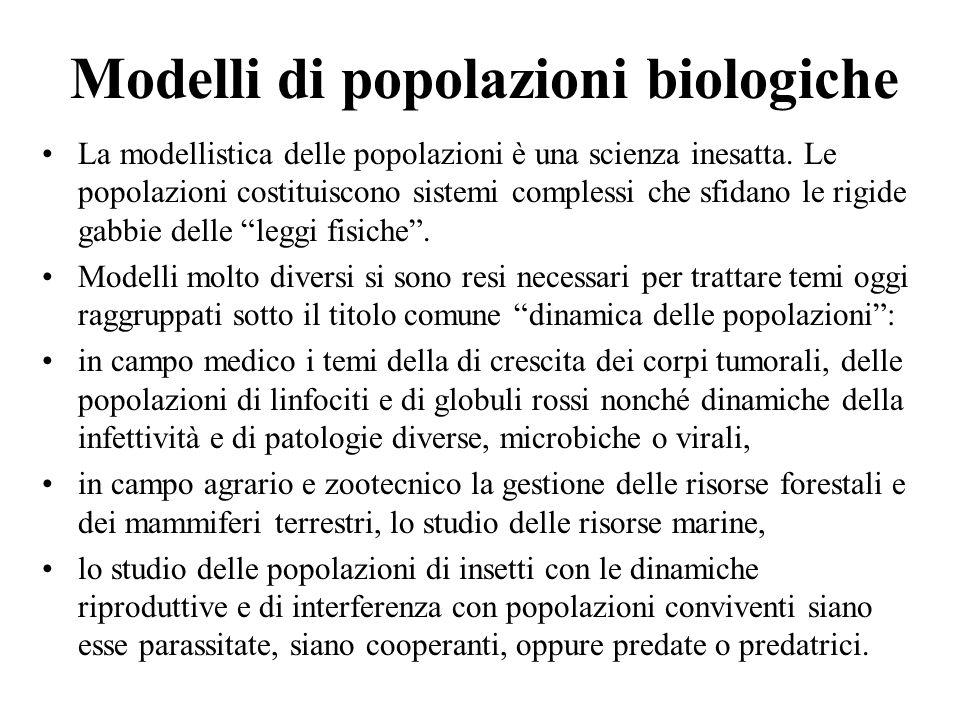 Modelli di popolazioni biologiche