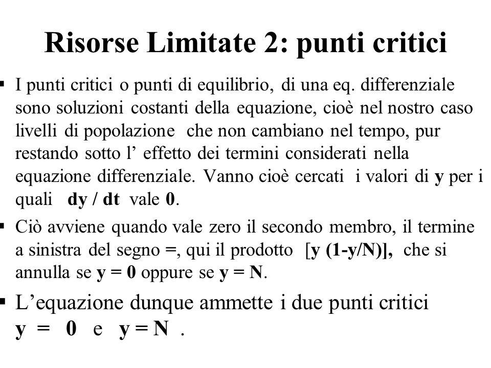 Risorse Limitate 2: punti critici